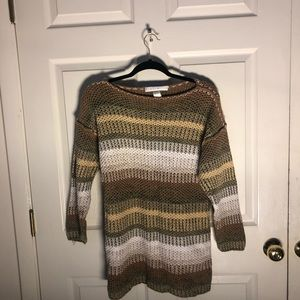 Small earth-tones crocheted sweater